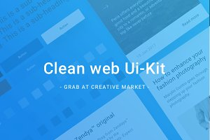 Clean Web UI-Kit