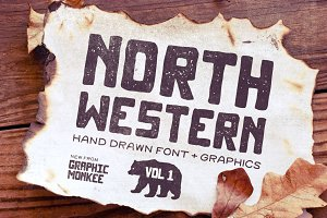 North Western Font + Vectors Vol 1