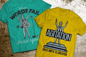 Agitation T-shirts And Poster Labels