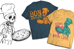 Pizza T-shirts And Poster Labels