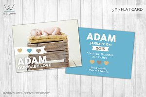 New Born Card Template - Baby Box -