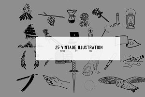 25 vintage illustration