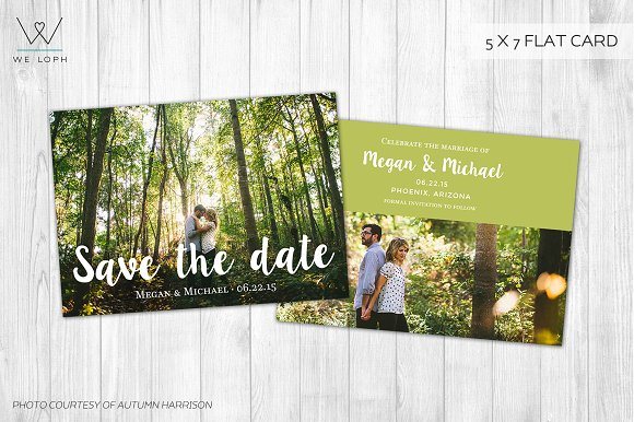 Save the date template photoshop card templates creative market save the date template photoshop cards maxwellsz