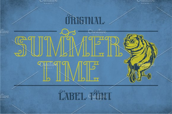 Sumer Time Modern Label Typeface