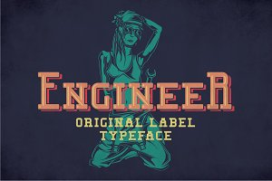 Engineer Modern Label Typeface