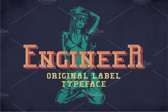 Engineer Modern Label Typeface