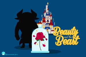 Digital Clipart Beauty And The Beast