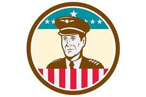 Airline Pilot Aviator USA Flag Circl