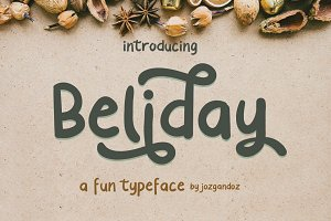 Beliday - Fun Display Font