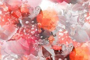 photo and watercolor seamless | JPEG