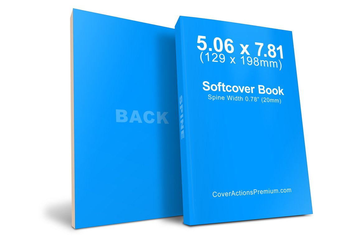 Soft Cover Book Mockup Template ~ Softcover book mockup mm product mockups