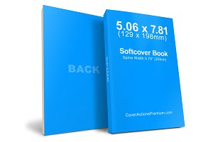 Softcover Book Mockup -129 x 198mm