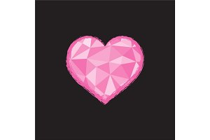 Heart Illustration in polygonal style