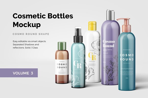 Cosmetic Bottles Mockup Vol-Graphicriver中文最全的素材分享平台