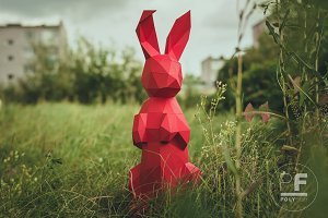 DIY Bunny 3D model template