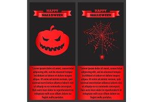 Happy Halloween Bloody on Vector Illustration