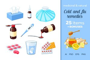 Medicinal and natural flu remedies