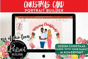 Family Portrait Christmas Card DIY