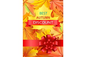 Best Autumn Discount Promo Poster with Luxury Bow