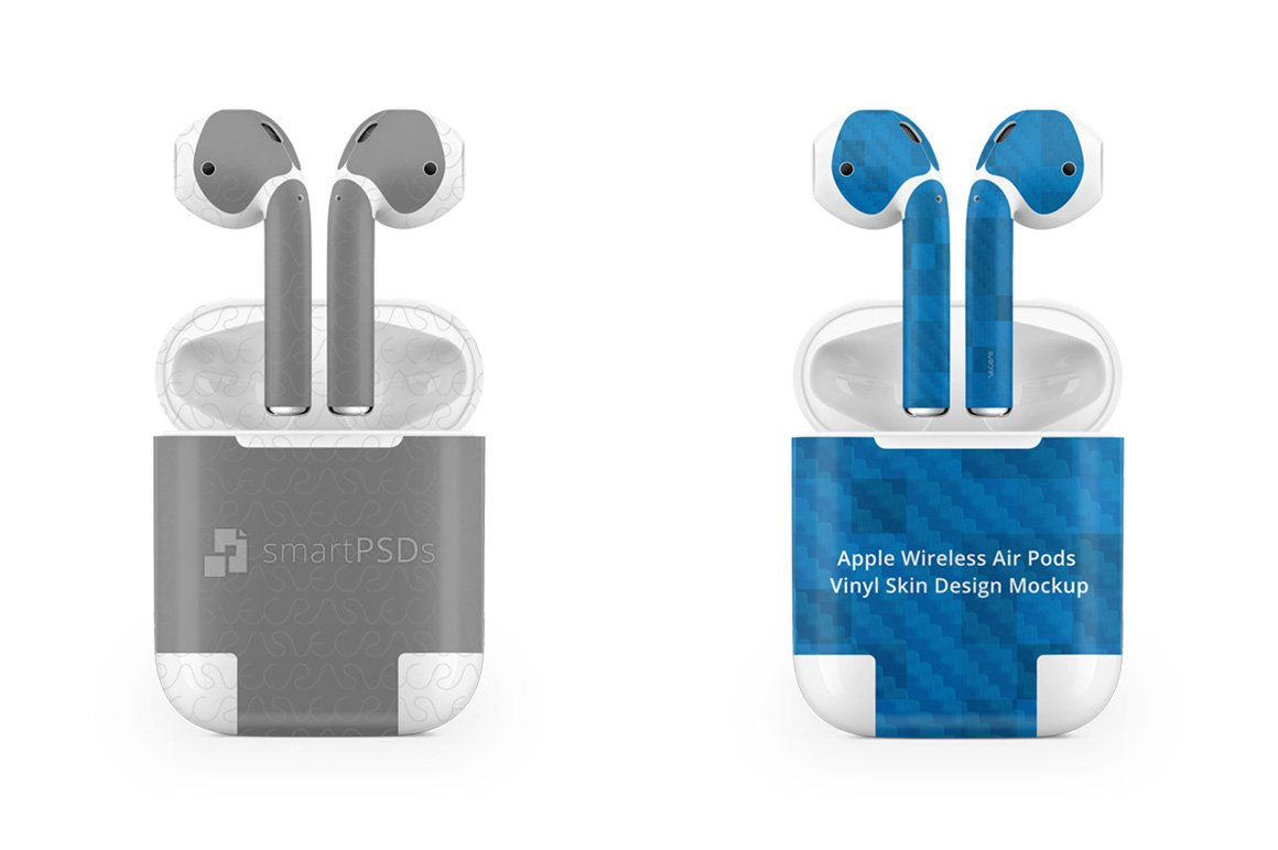 Apple Airpods Vinyl Skin Psd Mockup Product Mockups