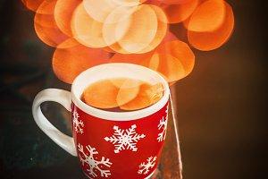Winter mug with snowflakes