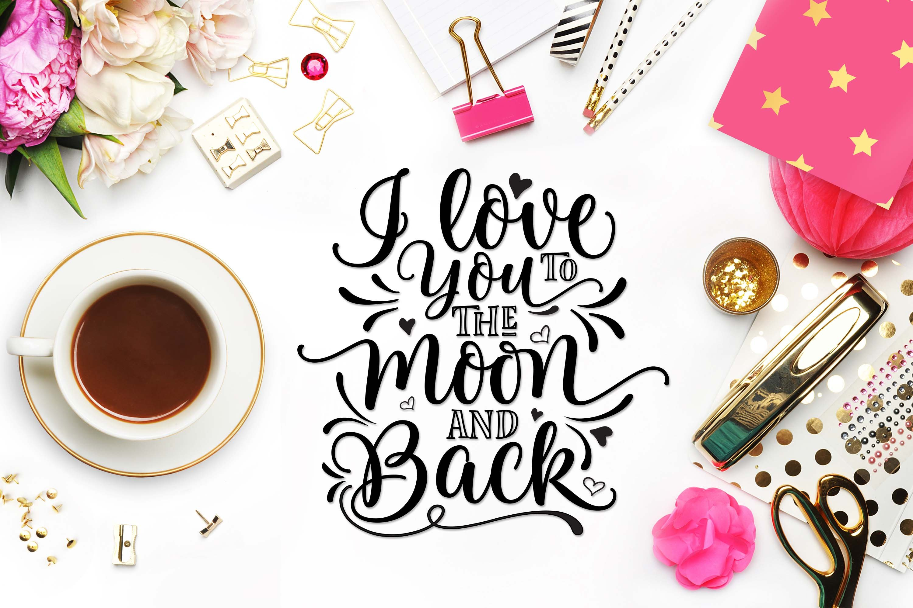 I Love You To The Moon And Back Svg Creative Daddy