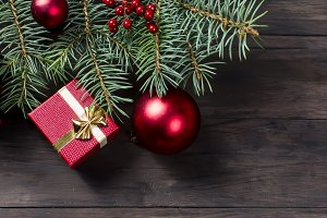 Christmas red gift