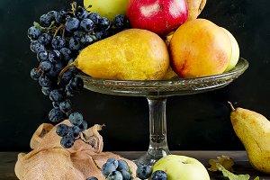 Still life autumn fruits