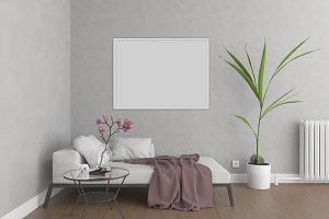 Interior mockup - wall art mock up