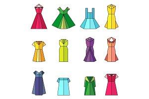 dress women origami