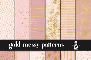 Gold Messy Patterns