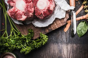 Raw Meat for soup or broth