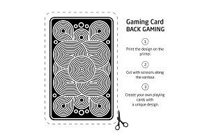 The reverse side of a playing card for blackjack other game with