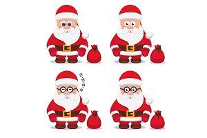 Vector christmas flat santa claus