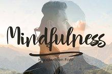 Mindfulness - handwritten font