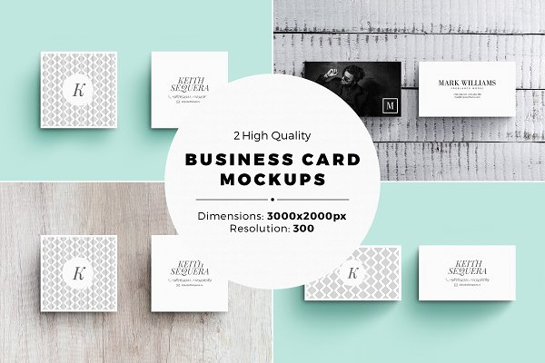 2 Business Card MockUps