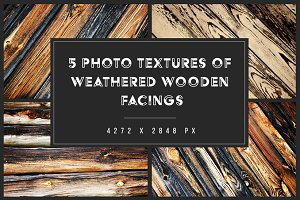 5 Weathered Wooden Facings