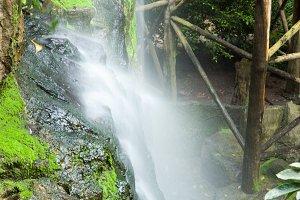 Stream of the waterfall.