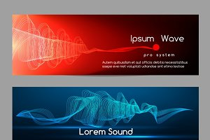 Sound wave banners