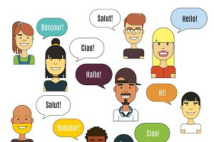 People communication illustration