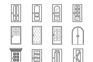 Linear door icons