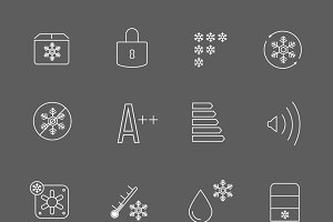 Freezing signs and freezer symbols