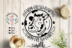 Farm Fresh Milk Cutting File