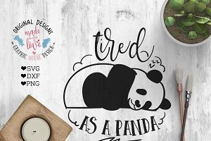 Tired As a Panda Cutting File