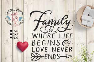 Family where life begins Cut File