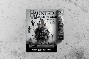 Black Halloween Flyer