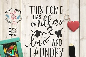 This home has endless love & laundry