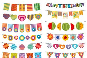 Bunting flags kid party decoration