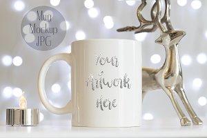 Mug mockup - Silver Christmas