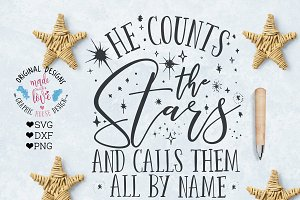 He Counts the Stars Cutting File